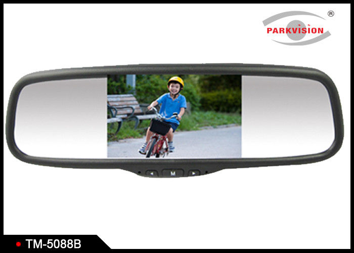 "5.0"" TFT LCD Screen Reversing Mirror Monitor With 2 - Way Audio / Video Input"